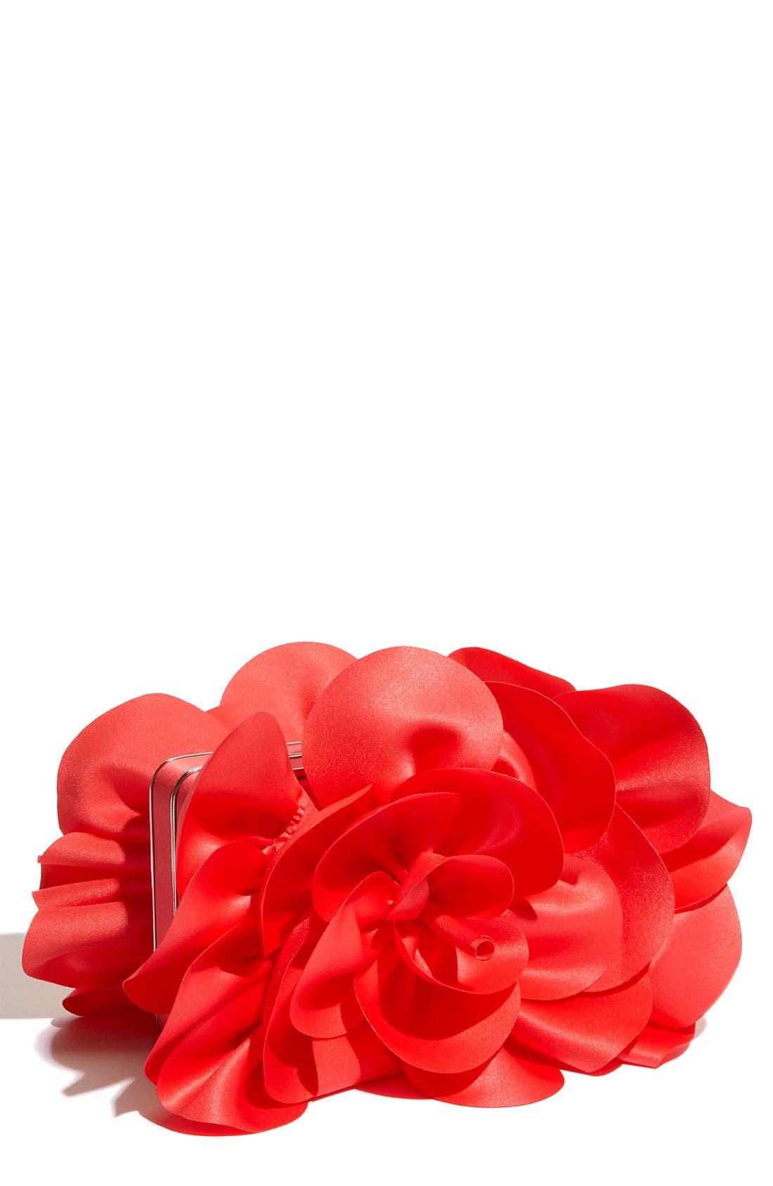 ,                             'Rose' Satin Box Clutch,                             Main thumbnail 26, color,                             800