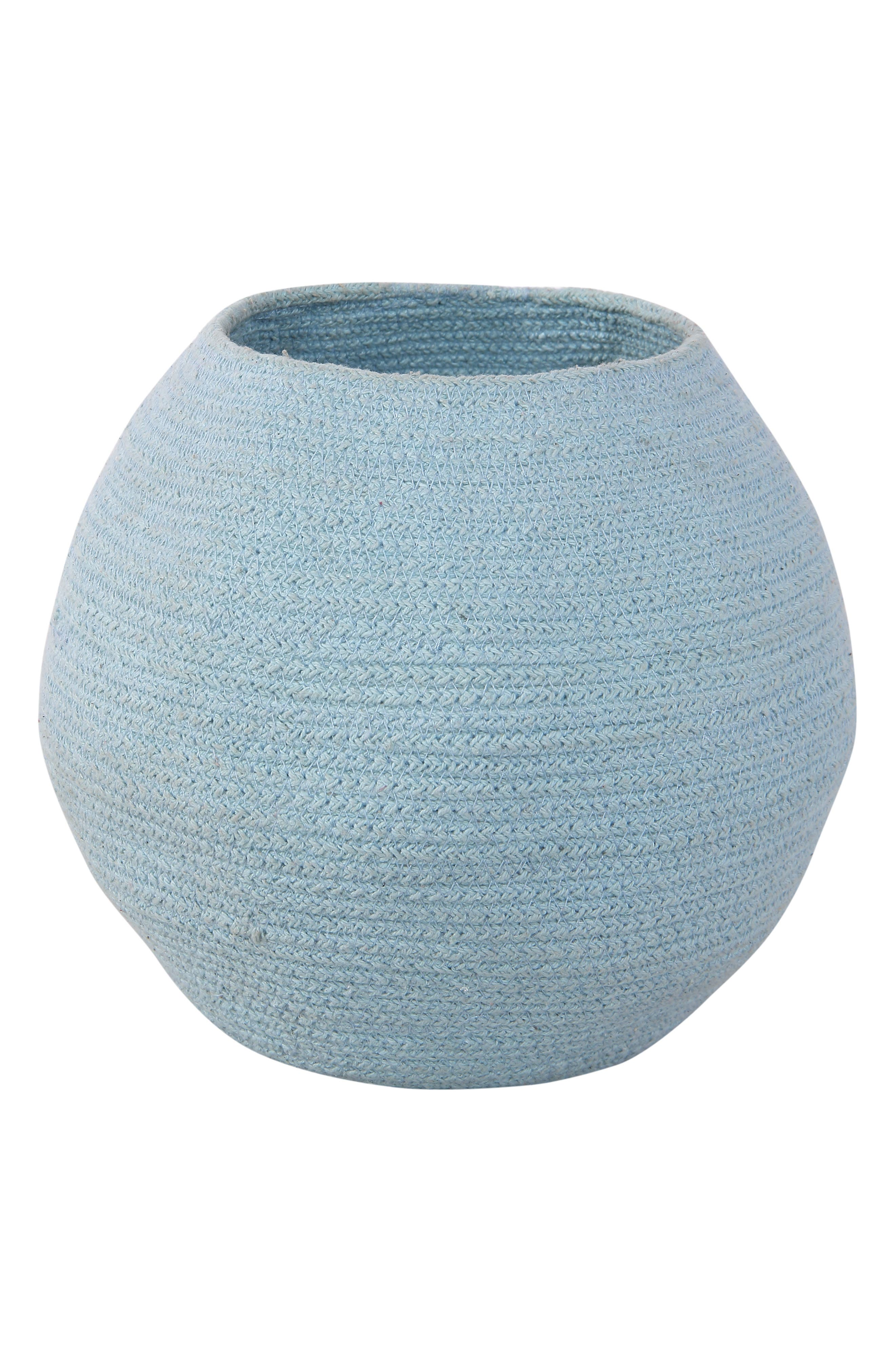 A round shape refines a handmade basket that serves a multitude of uses, from toy storage in the nursery to a distinctive planter cover. Style Name: Lorena Canals Bola Basket. Style Number: 5869417. Available in stores.