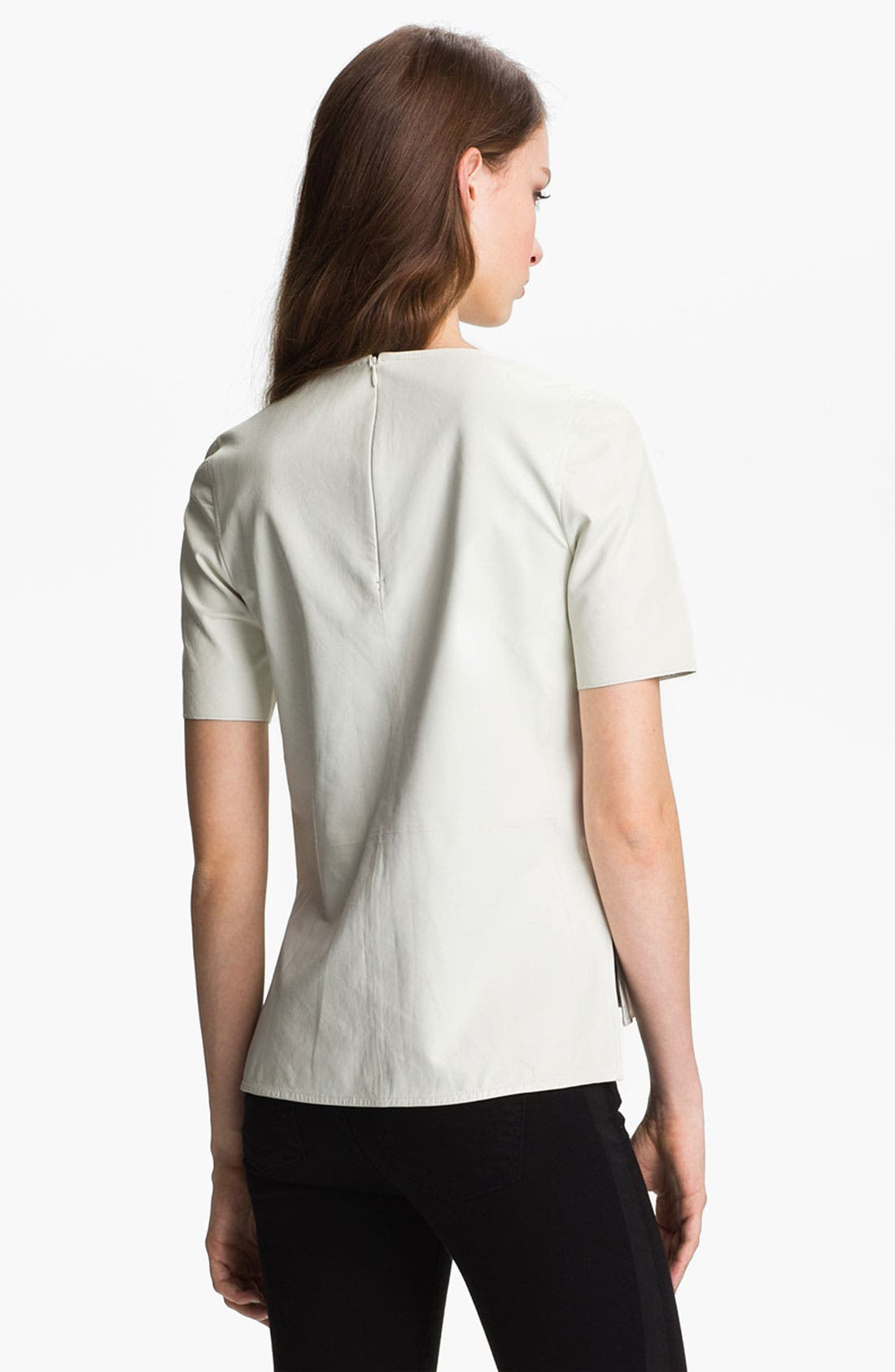 ,                             Leather Tee,                             Alternate thumbnail 7, color,                             100