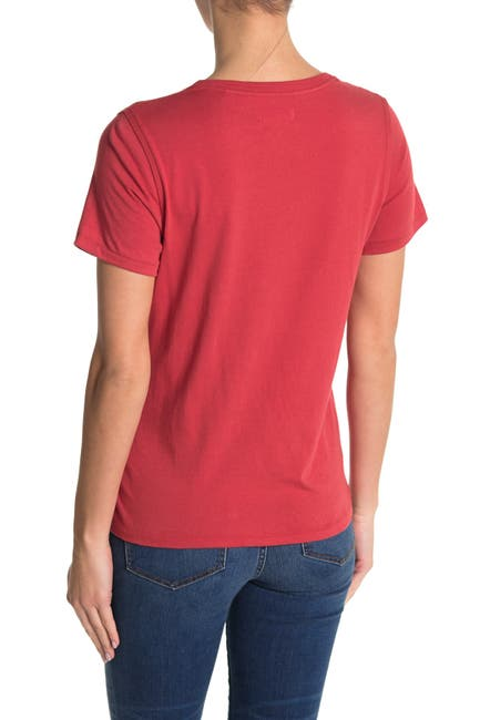 Image of Billy Reid Atlanta Embroidered Fitted Knit T-Shirt