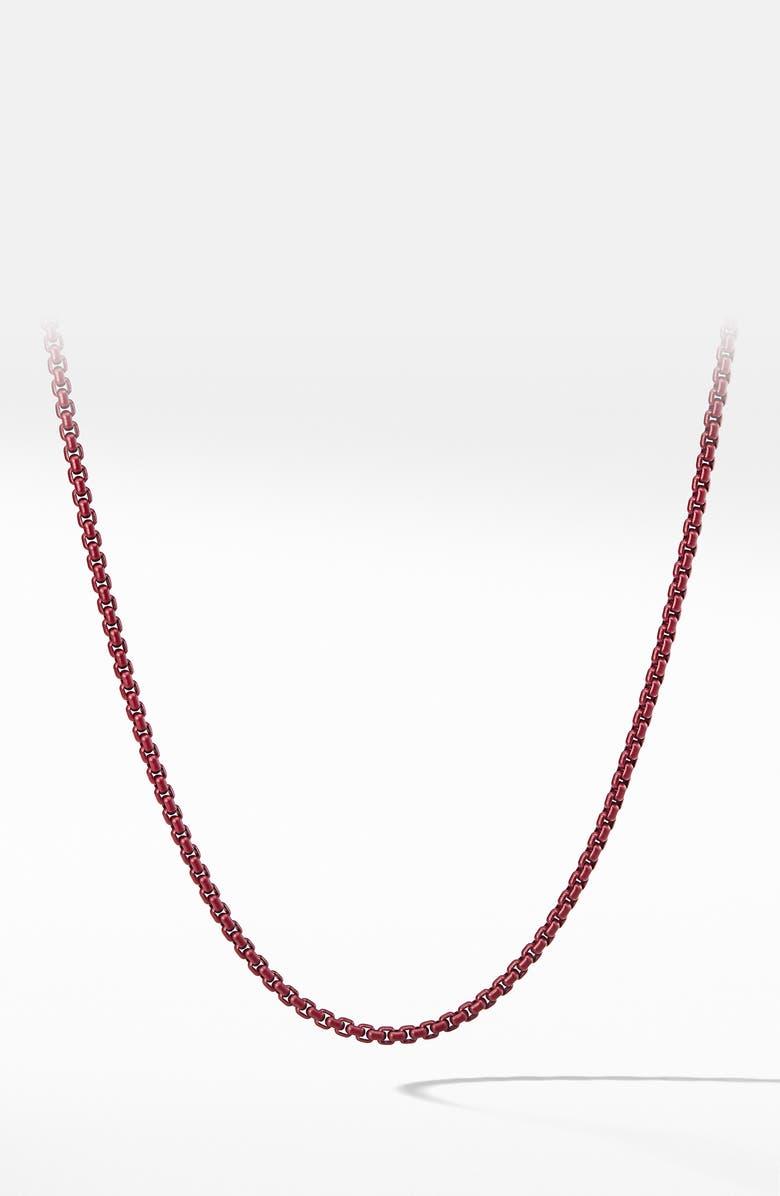 DAVID YURMAN Box Chain Necklace, Main, color, STEEL