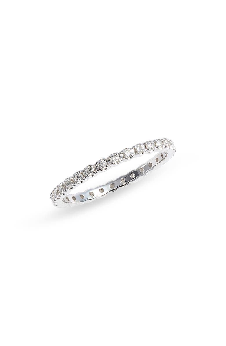 BONY LEVY Audrey Diamond Eternity Ring, Main, color, WHITE GOLD/ DIAMOND