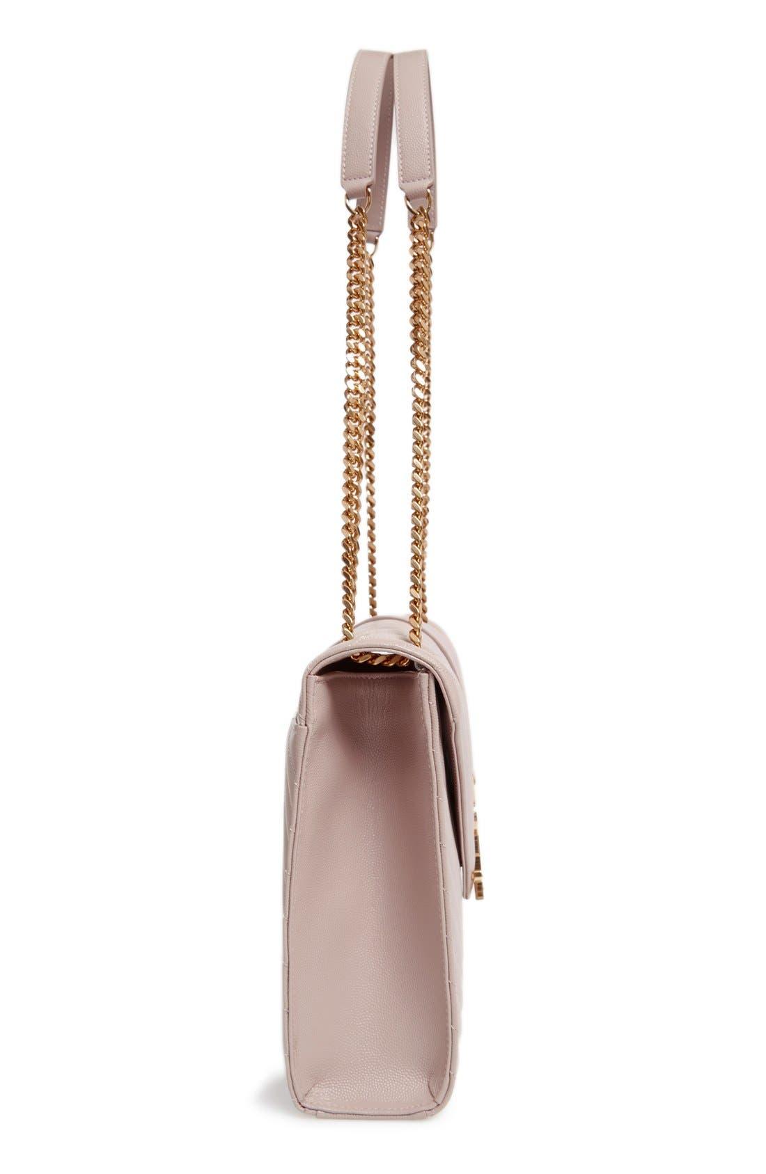 ,                             'Large Monogram' Grained Leather Shoulder Bag,                             Alternate thumbnail 47, color,                             657