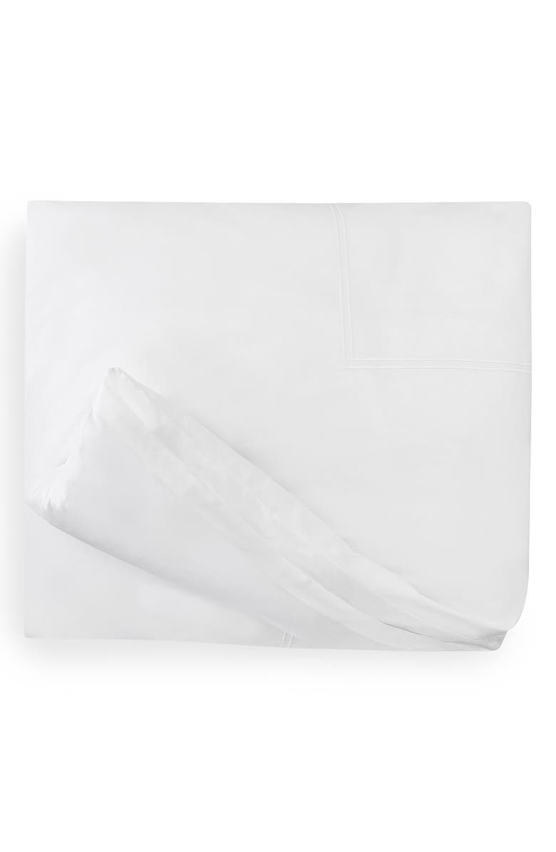 SFERRA Grande Hotel Duvet Cover, Main, color, WHITE/ WHITE