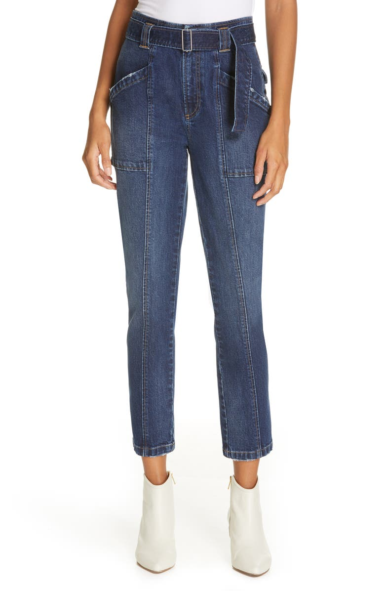 LA VIE REBECCA TAYLOR Tie Waist Jeans, Main, color, 400