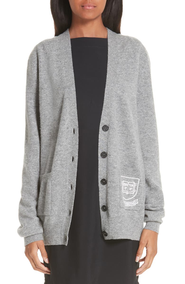 CALVIN KLEIN 205W39NYC Yale Wool & Cotton Cardigan, Main, color, 091