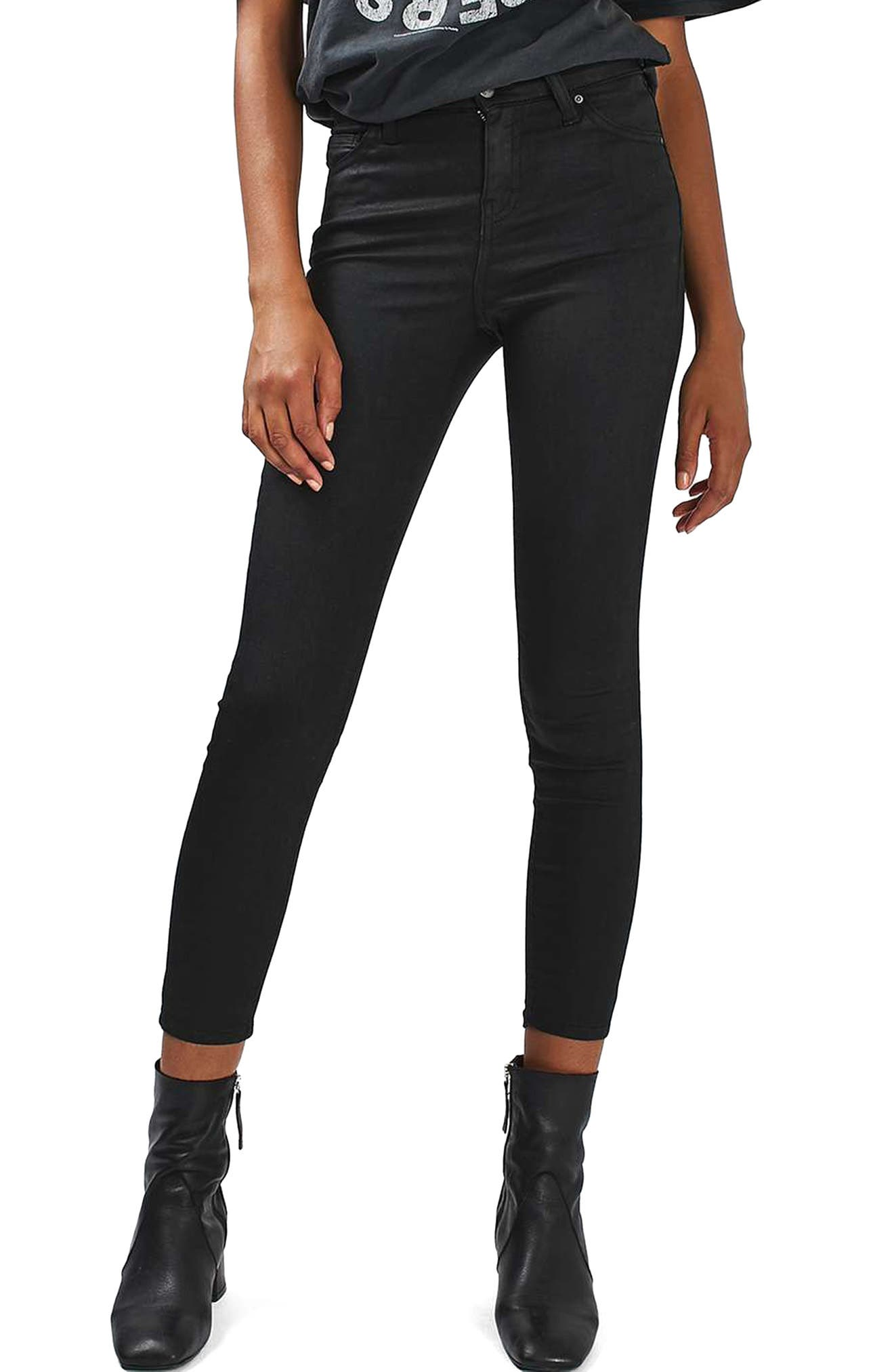 ,                             Jamie Coated Skinny Jeans,                             Main thumbnail 1, color,                             001