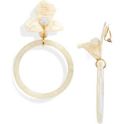 Lele Sadoughi Memphis Trillium Hoop Earrings