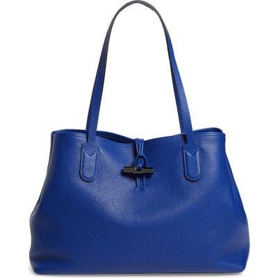 Longchamp Roseau Essential Mid Leather Tote - Blue