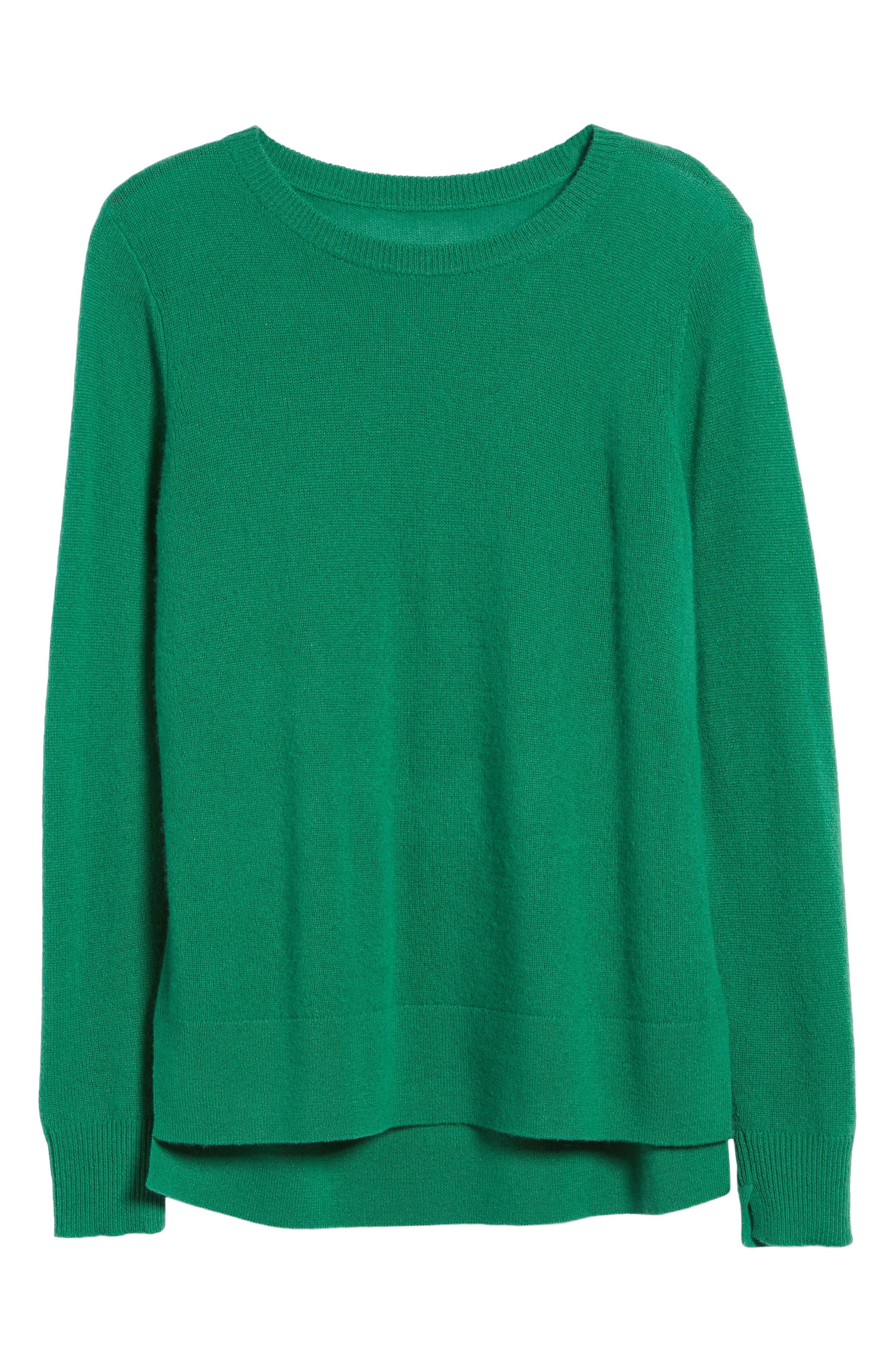 ,                             Crewneck Cashmere Sweater,                             Alternate thumbnail 77, color,                             300