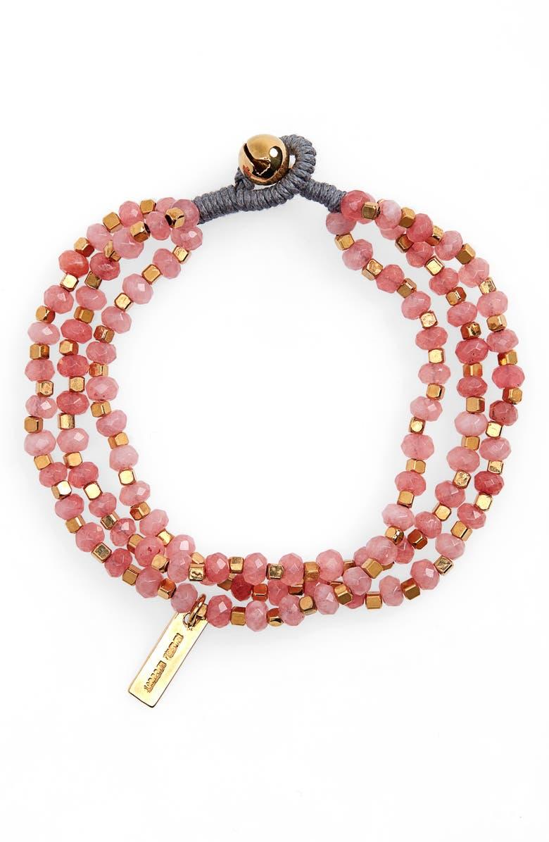 ISABEL MARANT Stone Beaded Toggle Bracelet, Main, color, 200