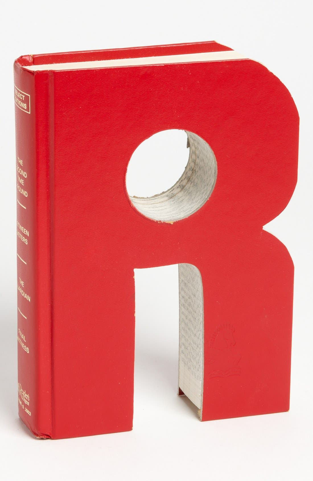 ,                             'One of a Kind Letter' Hand-Carved Recycled Book Shelf Art,                             Main thumbnail 86, color,                             217