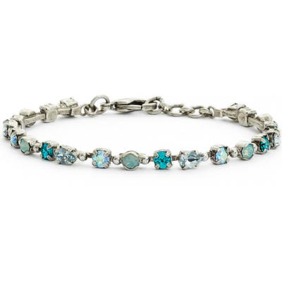 Sorrelli Straight & Narrow Crystal Tennis Bracelet