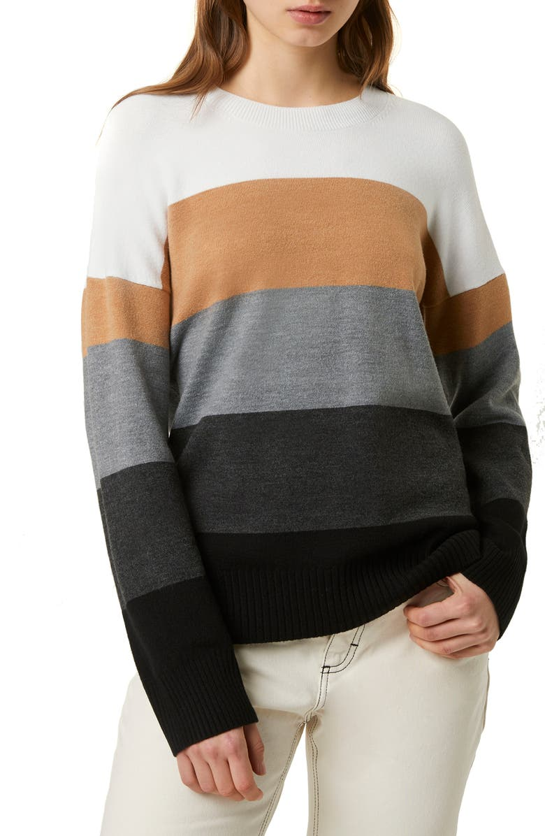 FRENCH CONNECTION Stripe Oversize Sweater, Main, color, 900