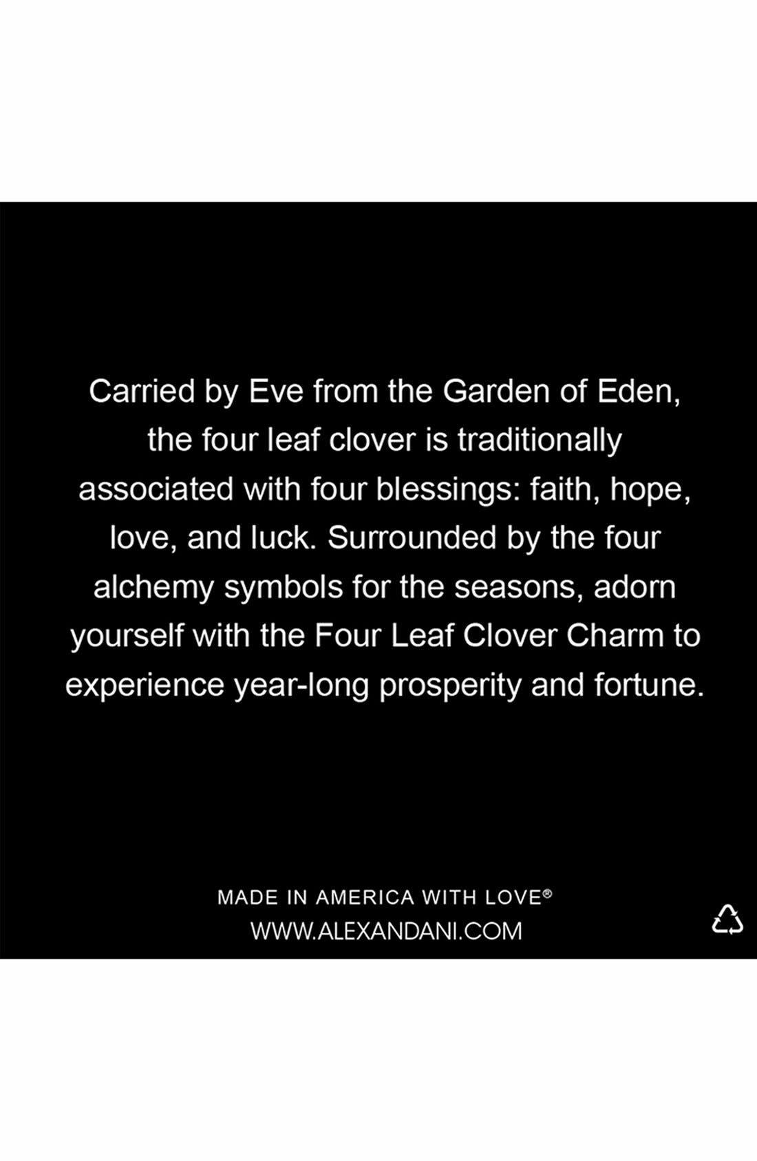 ,                             'Four Leaf Clover' Expandable Wire Bracelet,                             Alternate thumbnail 4, color,                             710