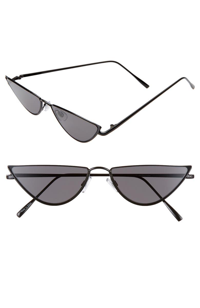 BP. 56mm Slim Cat Eye Sunglasses, Main, color, 001
