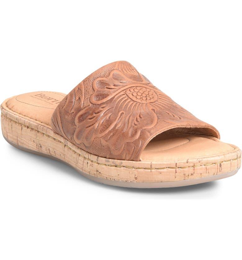 B Rn Fish Lake Tooled Slide Sandal Women