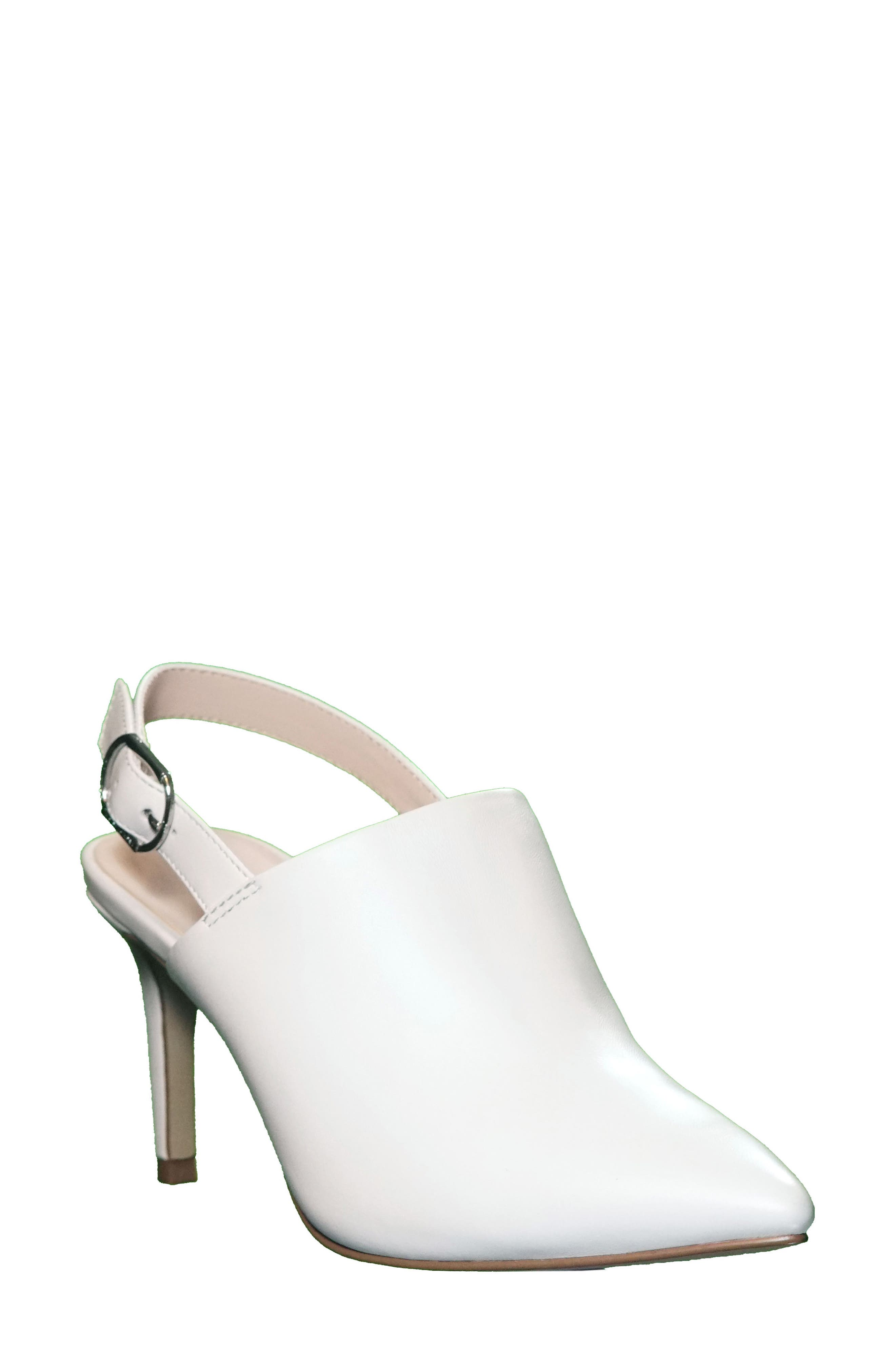 Tahari Pierrette Slingback Pump, White