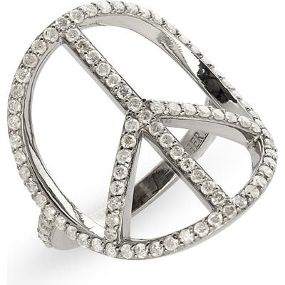 Sheryl Lowe Peace Sign Ring