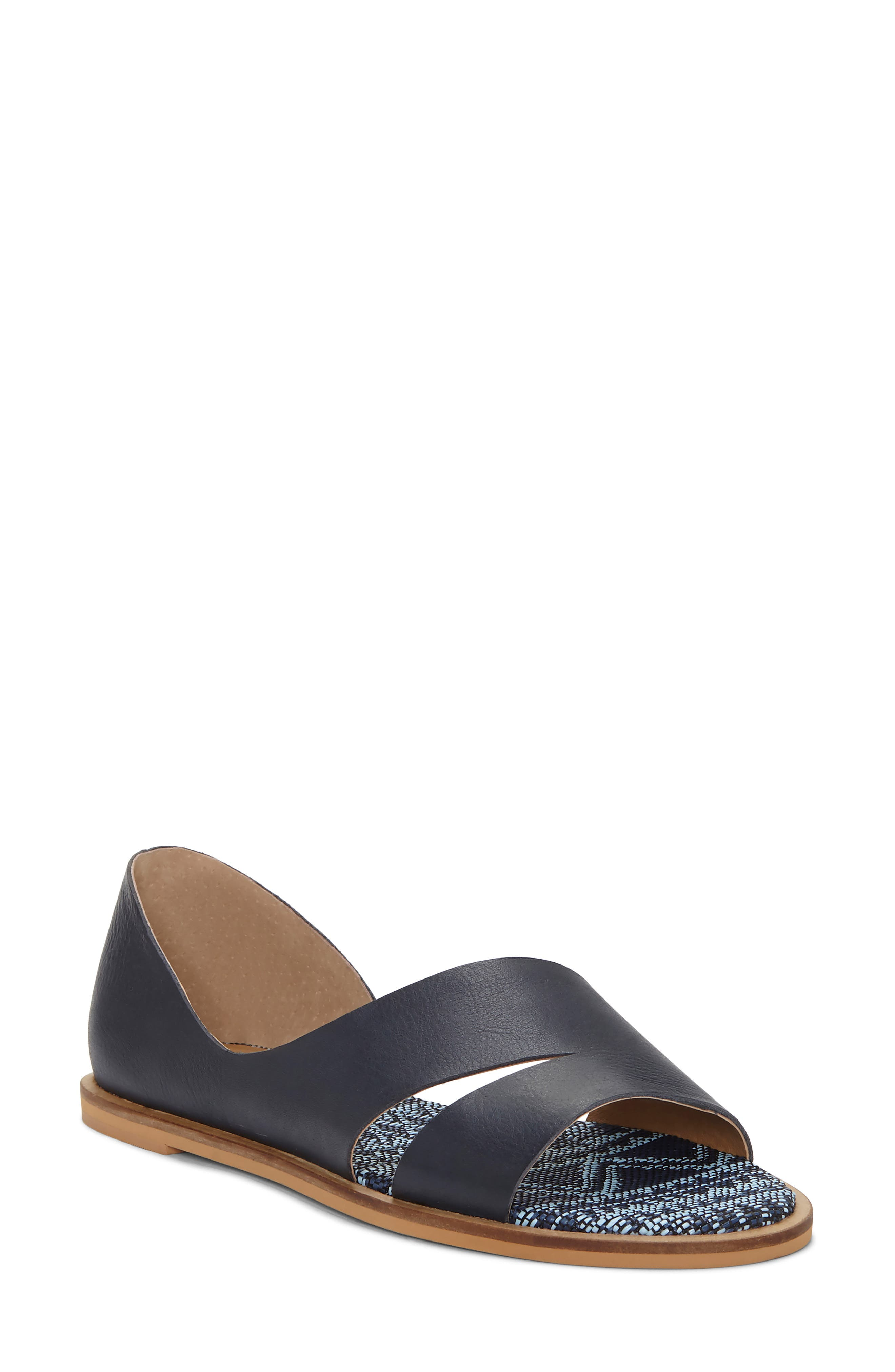 Lucky Brand Felicitas Flat Sandal- Blue