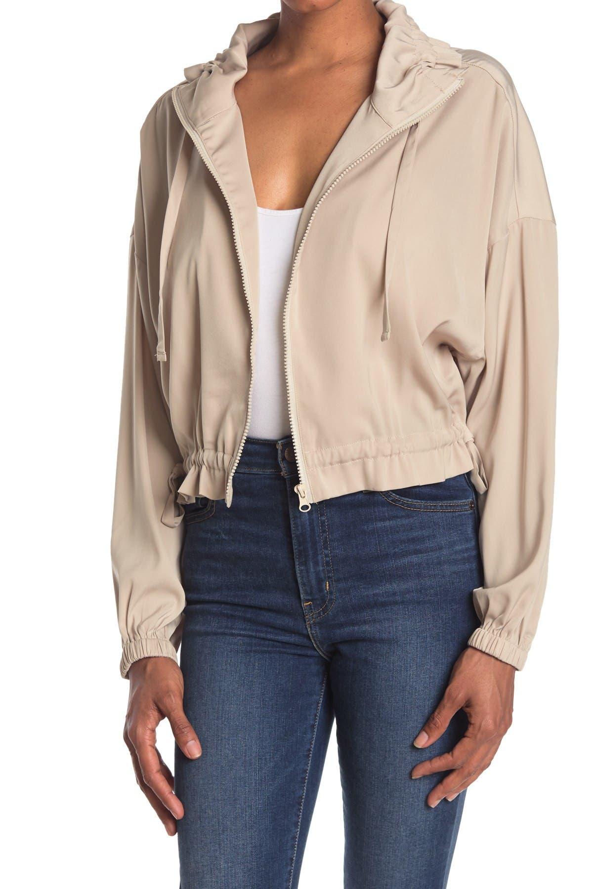 Image of Elodie Long Sleeve Drawstring Jacket