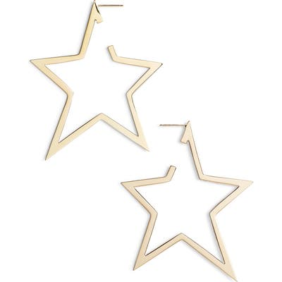 Jennifer Zeuner Sade X-Large Star Hoop Earrings