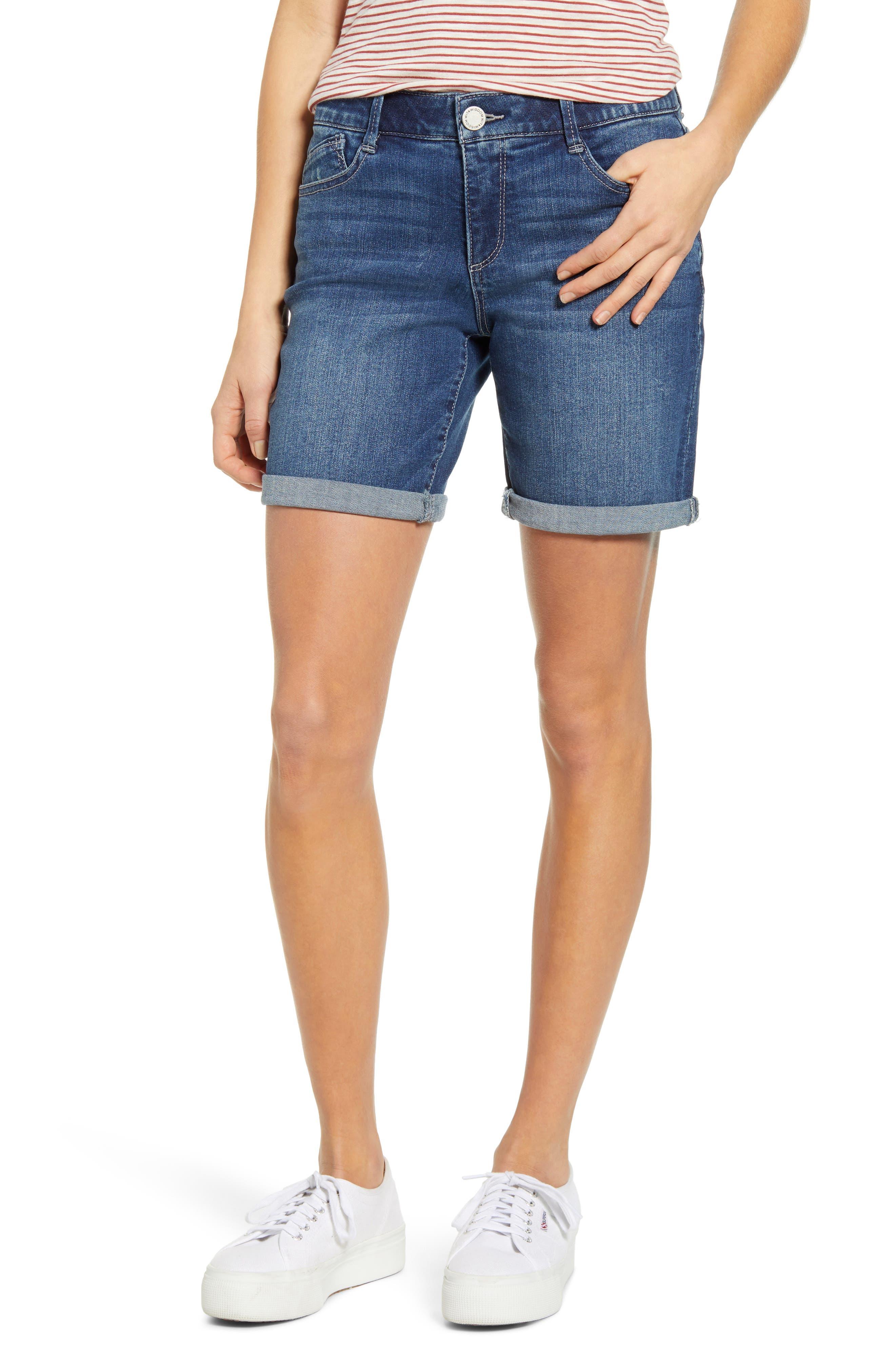 Women's Wit & Wisdom Ab-Solution White Denim Shorts,  00 - Blue (Regular & Petite) (Nordstrom Exclusive)