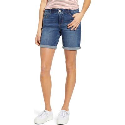 Wit & Wisdom Ab-Solution White Denim Shorts, Blue (Regular & Petite) (Nordstrom Exclusive)