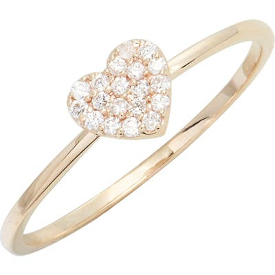 Anzie Love Letter Pave Heart Ring