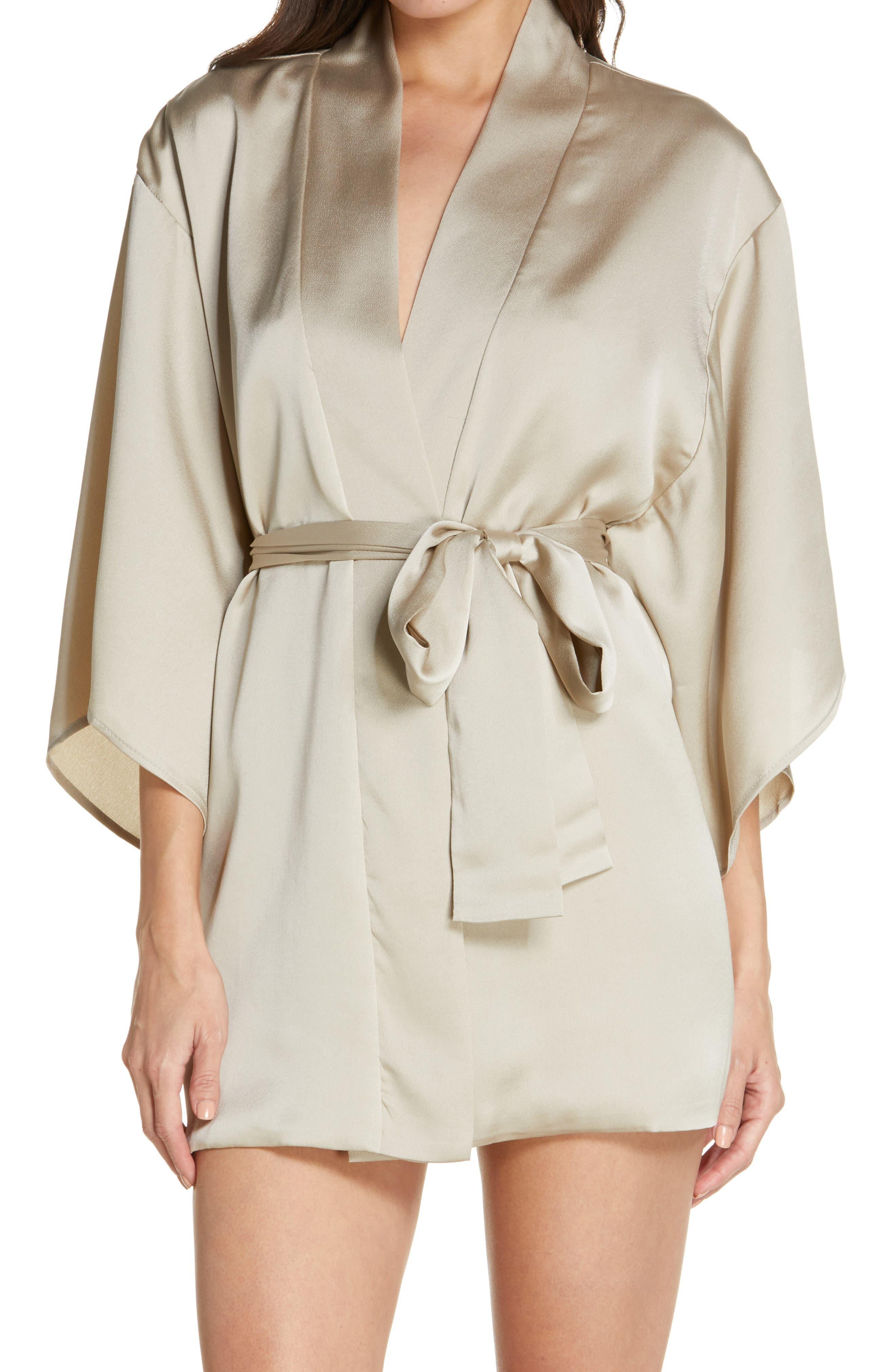 Short Satin Robe