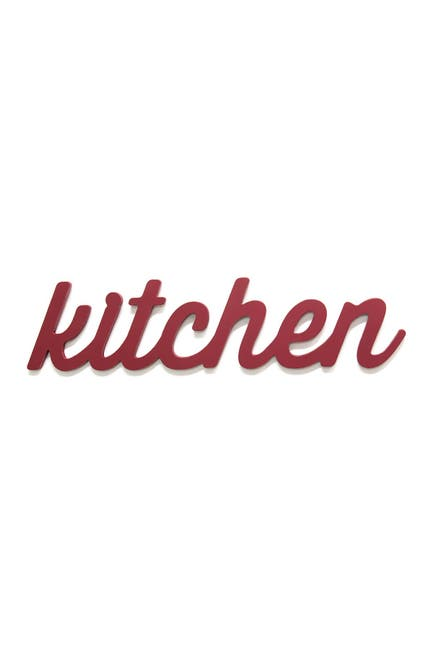Image of Stratton Home Red Kitchen Wood Word Decor