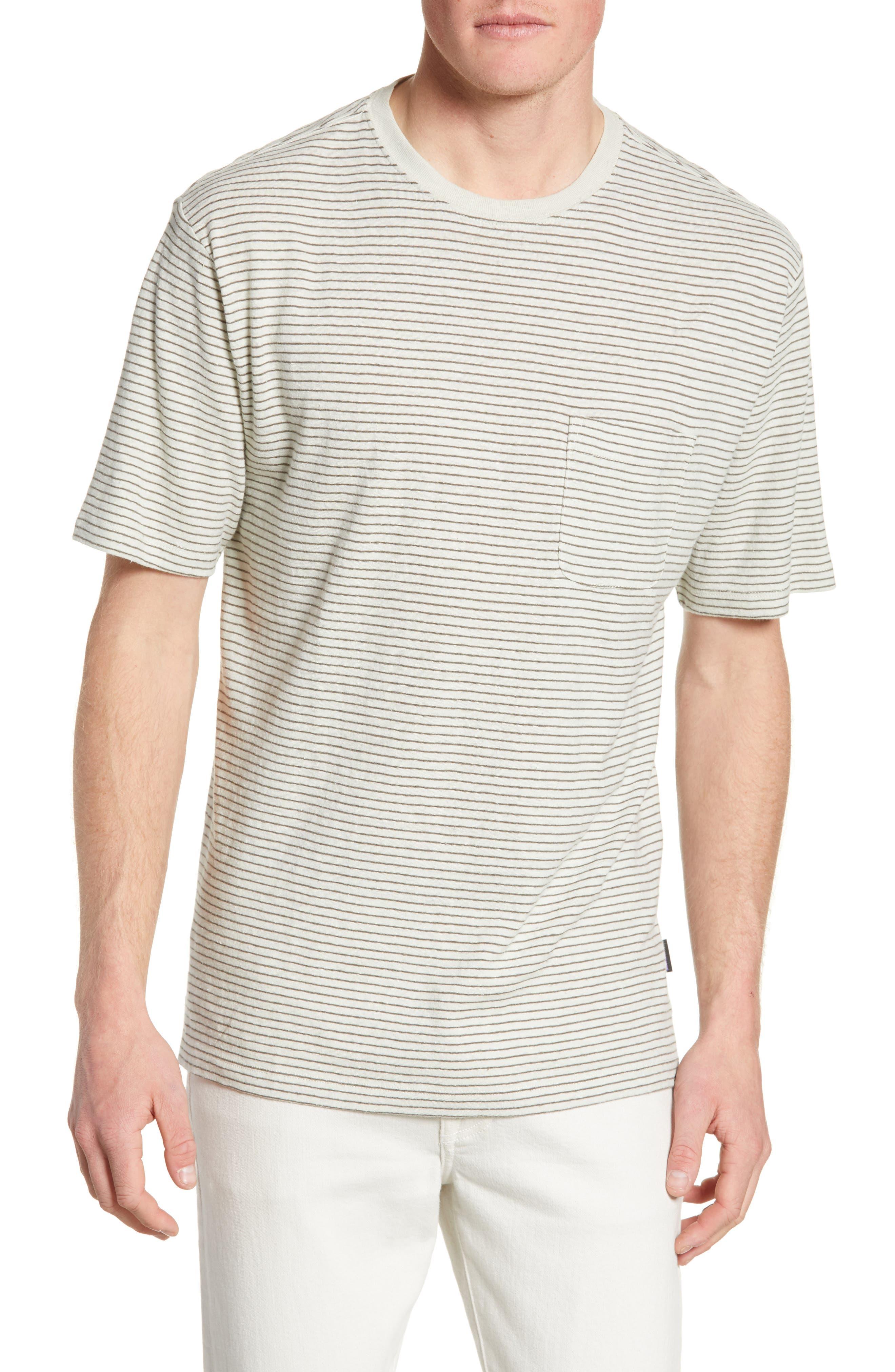 Patagonia Trail Harbor Stripe Pocket T-Shirt, White