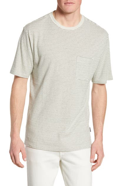 Patagonia Trail Harbor Stripe Pocket T-Shirt In Long Plains Big/ Dyno White