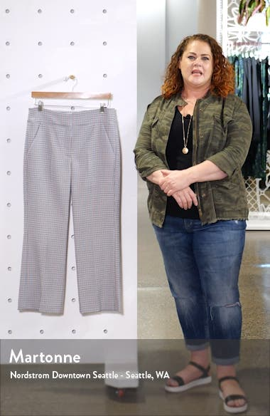 Cormac Houndstooth Check Crop Trousers, sales video thumbnail