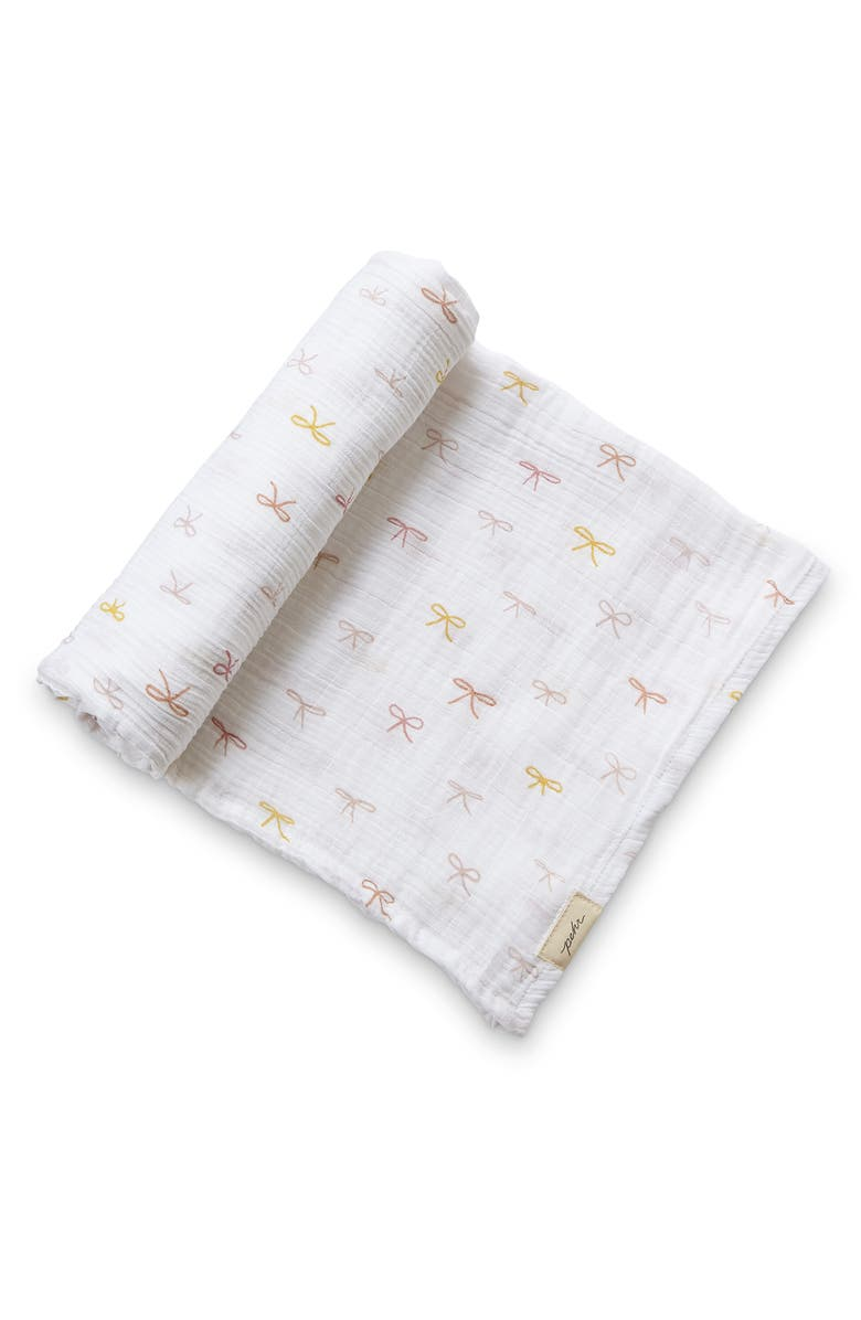 PEHR Poppy Organic Cotton Muslin Swaddle, Main, color, PINK