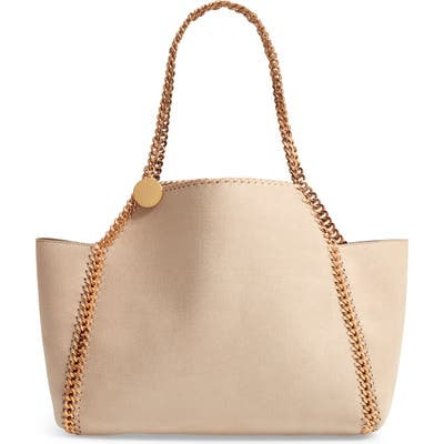 Stella Mccartney Shaggy Deer Reversible Faux Leather Tote - Ivory