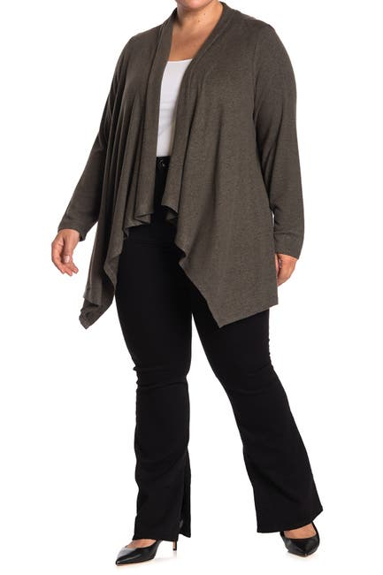 Image of Workshop Drape Front Open Cardigan Sweater
