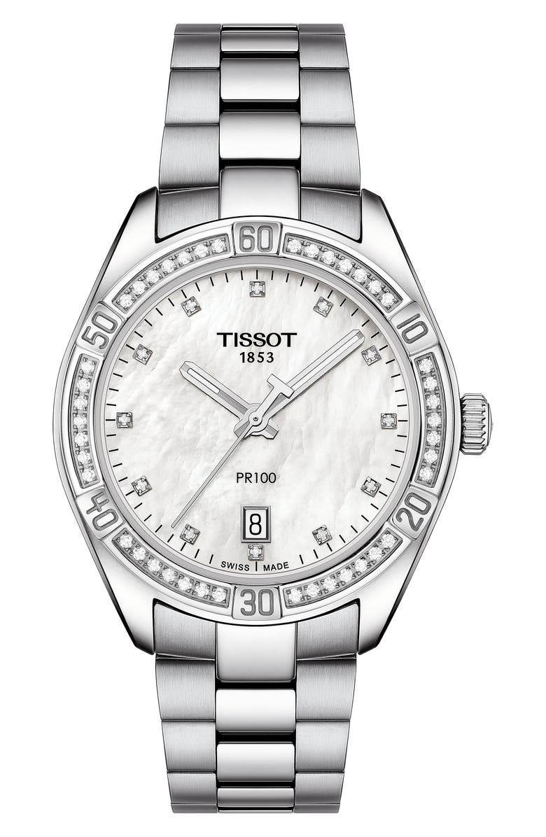 TISSOT T-Classic PR 100 SE Bracelet Watch, 36mm, Main, color, 040