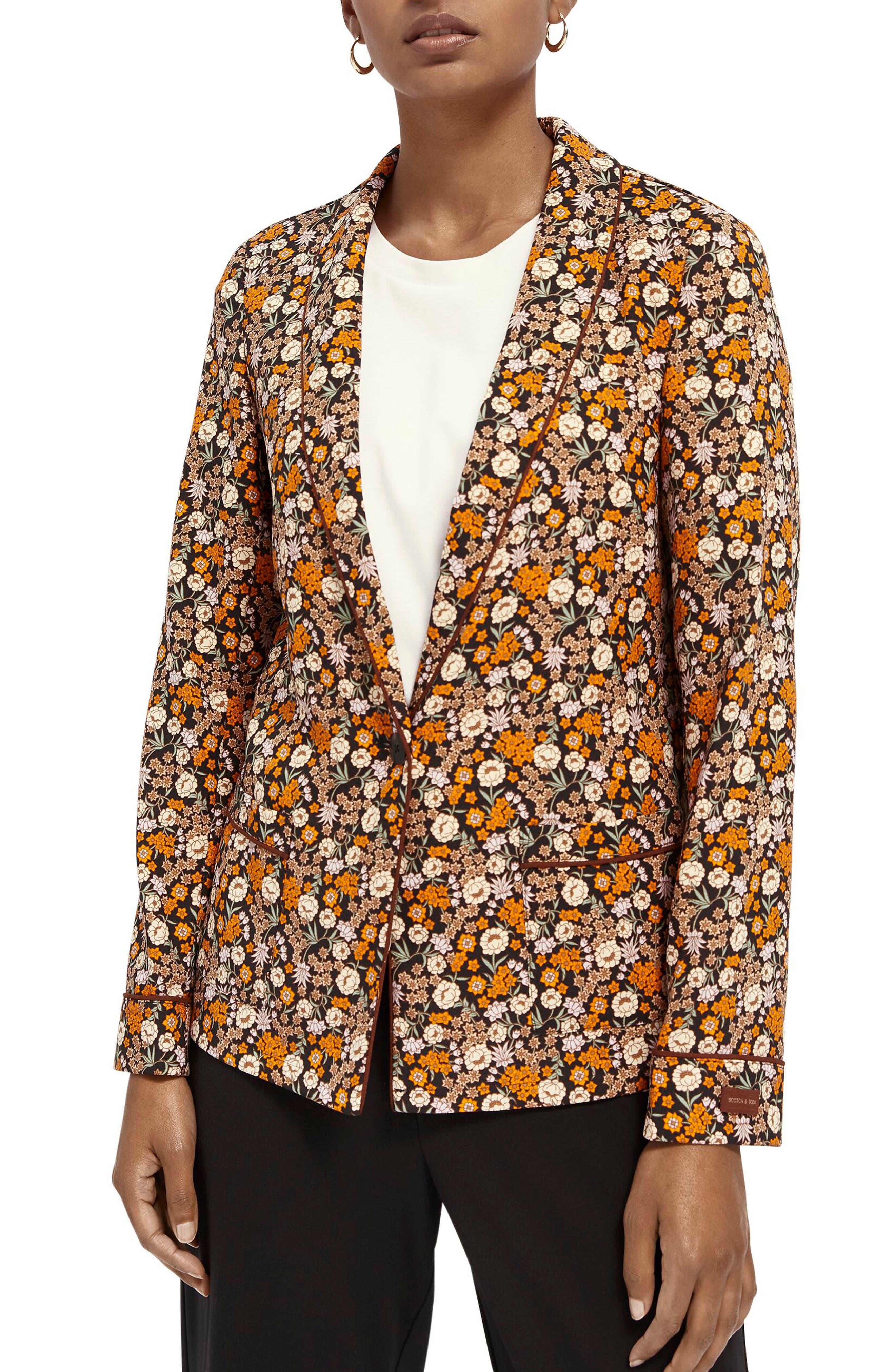 Scotch & Soda Floral Print Pyjama Blazer   Nordstrom