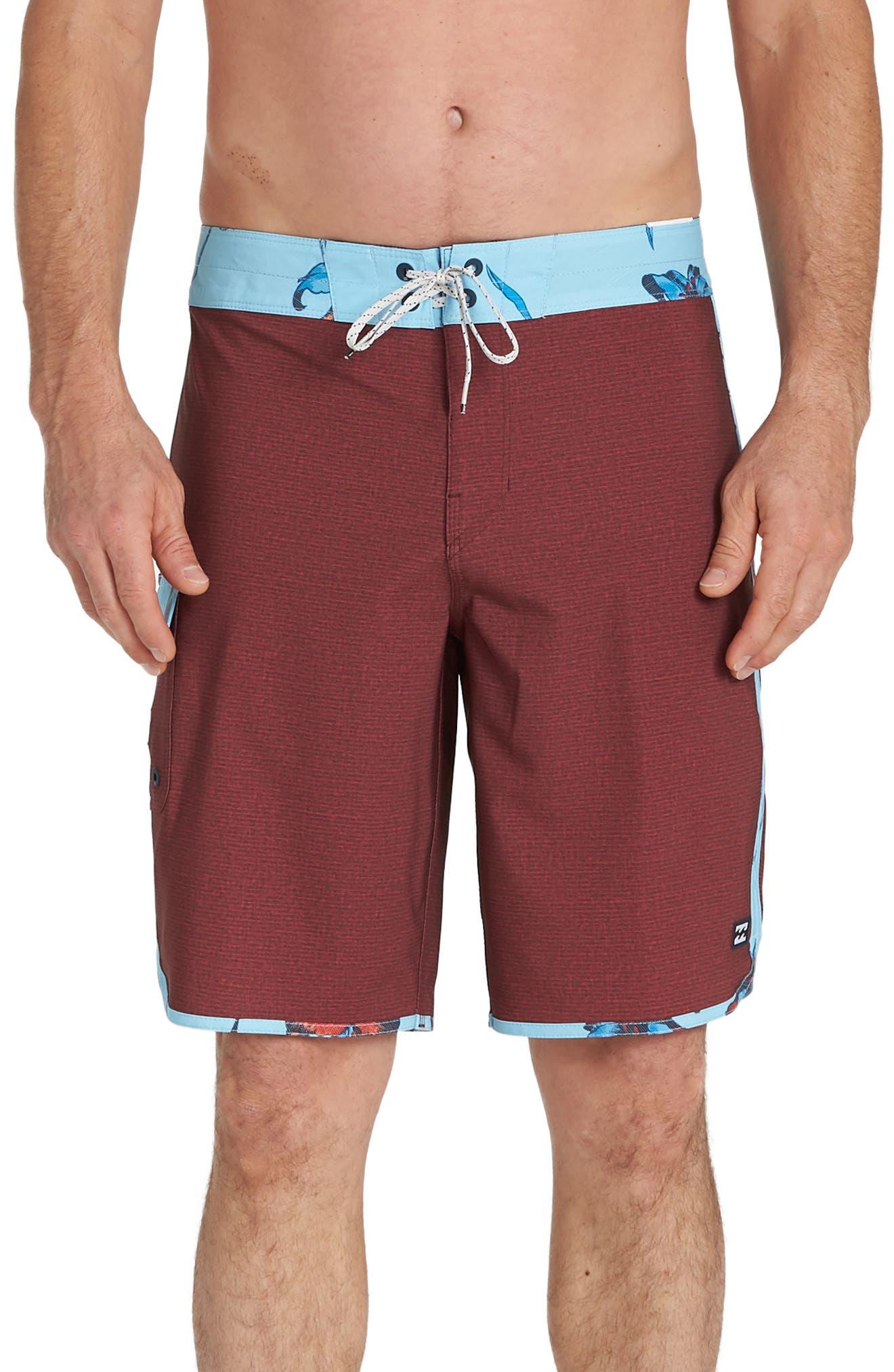 Billabong 73 Pro Board Shorts, Red