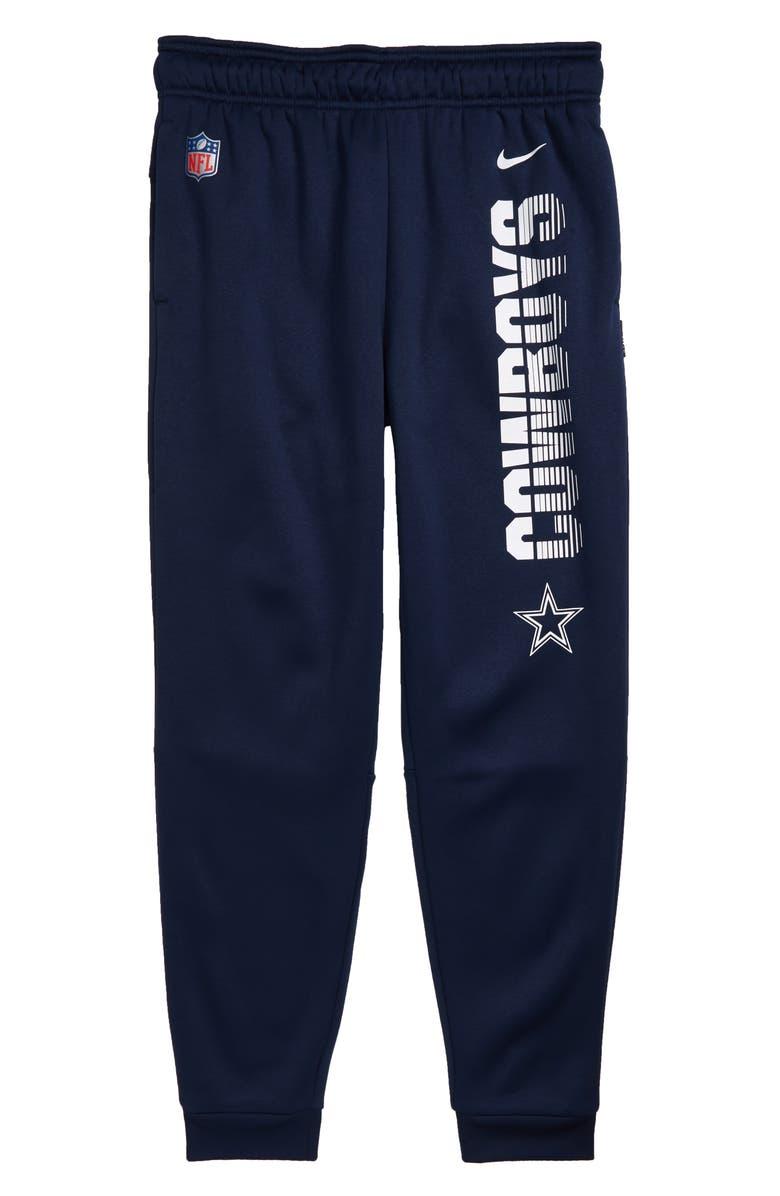 NIKE NFL Logo Dallas Cowboys Therma Dri-FIT Pants, Main, color, NAVY