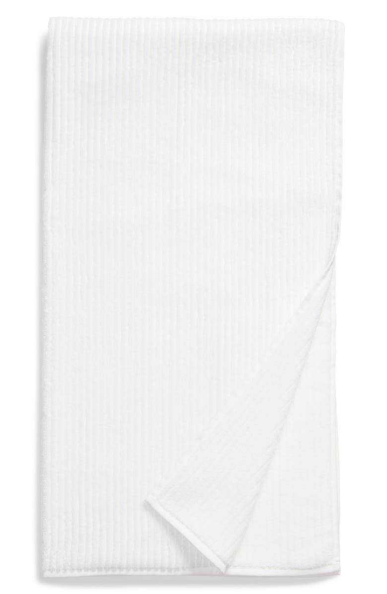 NORDSTROM Organic Cotton Rib Bath Towel, Main, color, WHITE