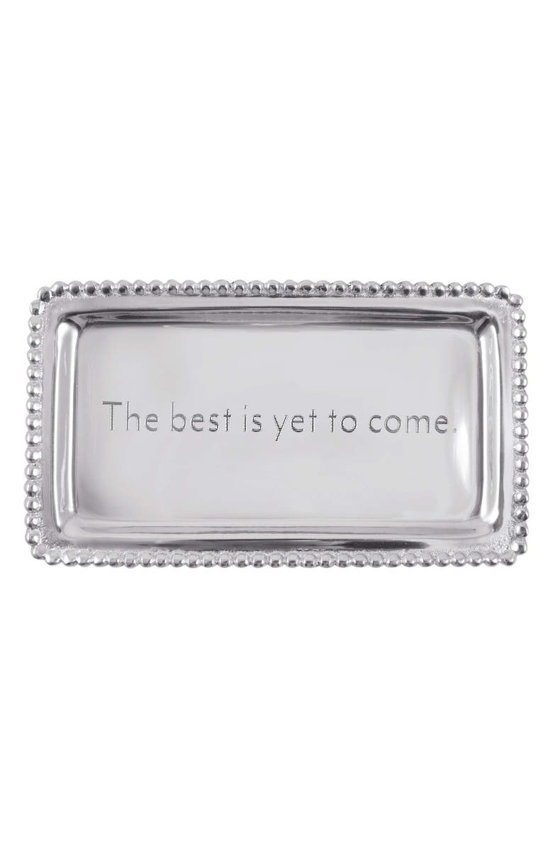MARIPOSA The Best is Yet to Come Tray, Main, color, SILVER