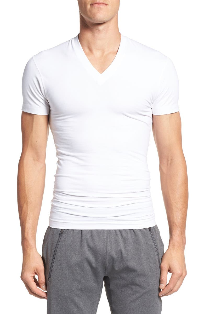 2(X)IST 'Form Shaping' V-Neck T-Shirt, Main, color, 100