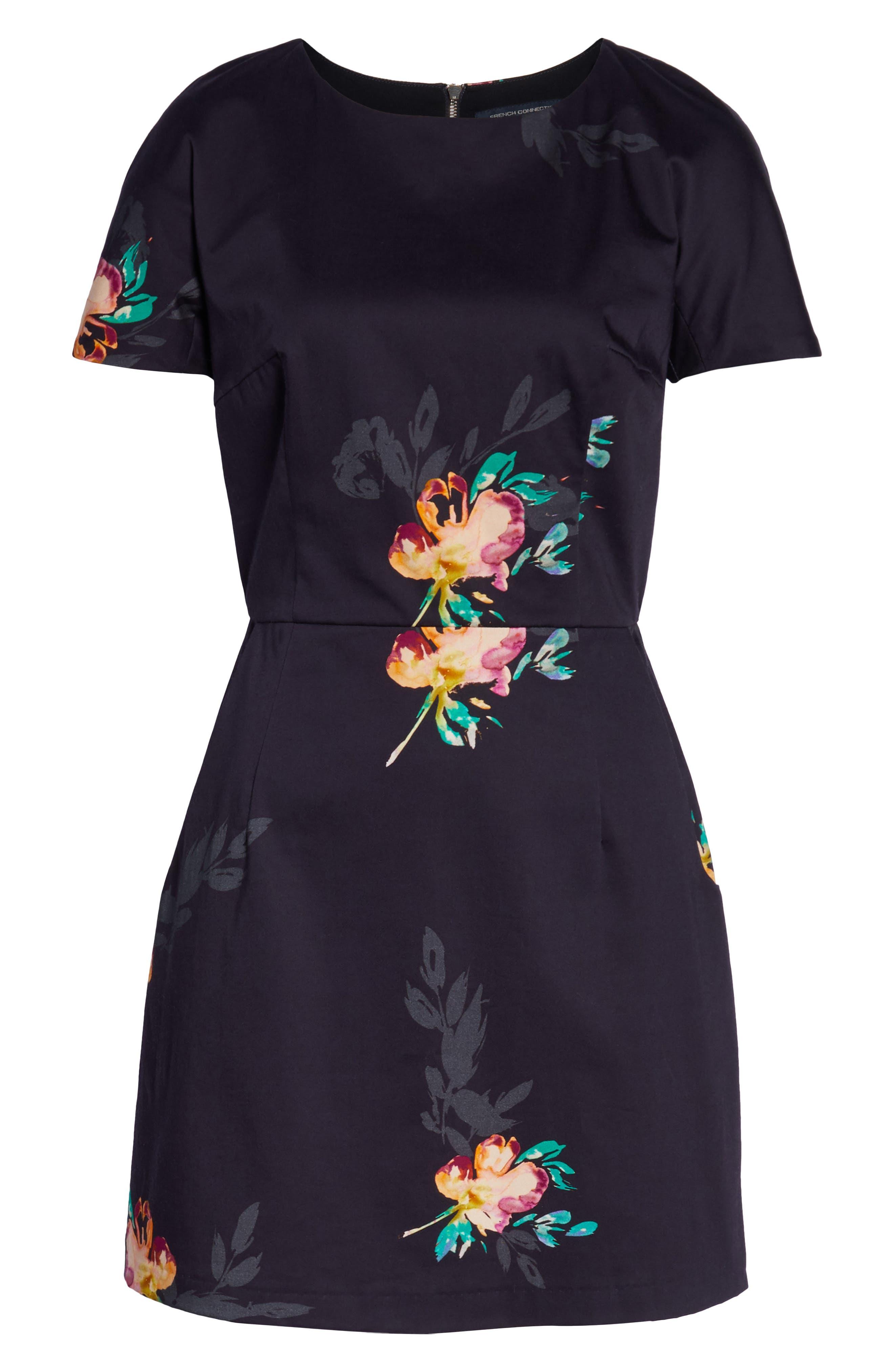 ,                             Delphine Stretch Sheath Dress,                             Alternate thumbnail 7, color,                             UTILITY BLUE MULTI
