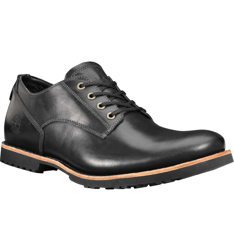 TIMBERLAND Kendrick Waterproof Plain Toe Derby, Main, color, BLACK FULL GRAIN
