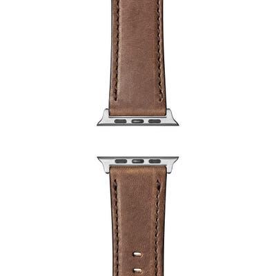 Shinola Leather Apple Watch Strap