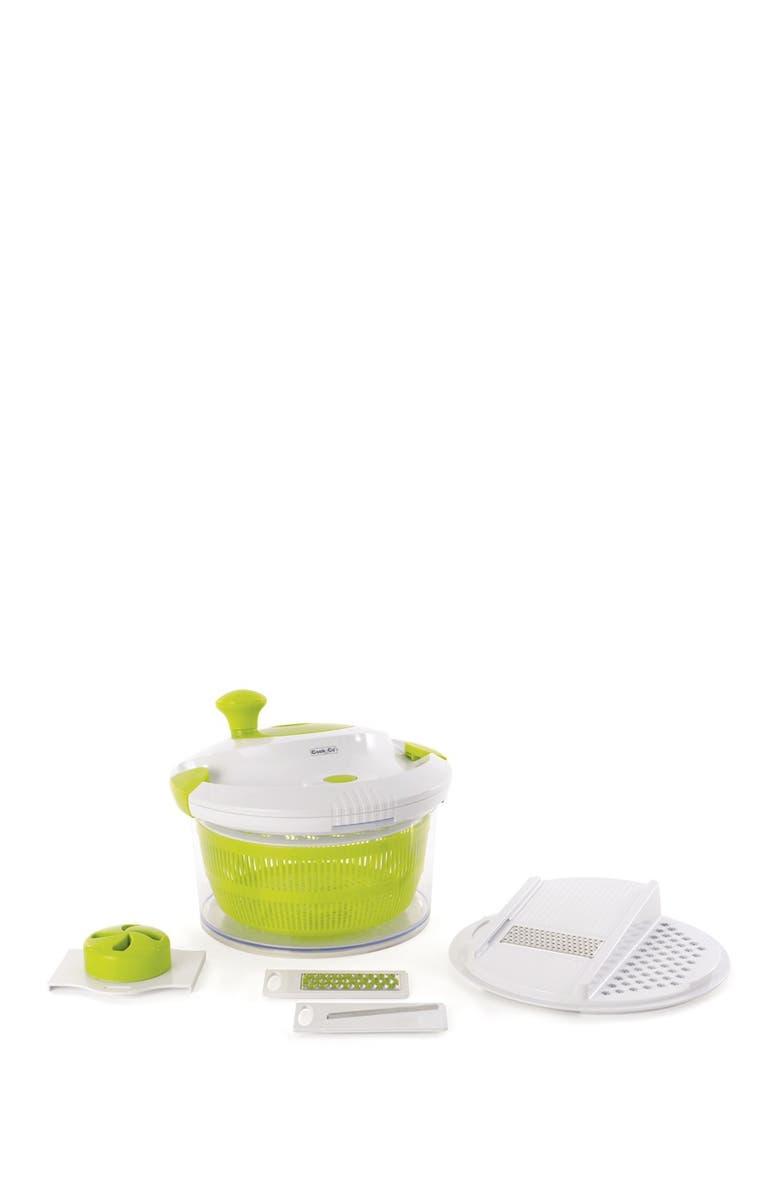 BERGHOFF INTERNATIONAL Salad Slicer & Spinner Set, Main, color, GREEN, WHITE