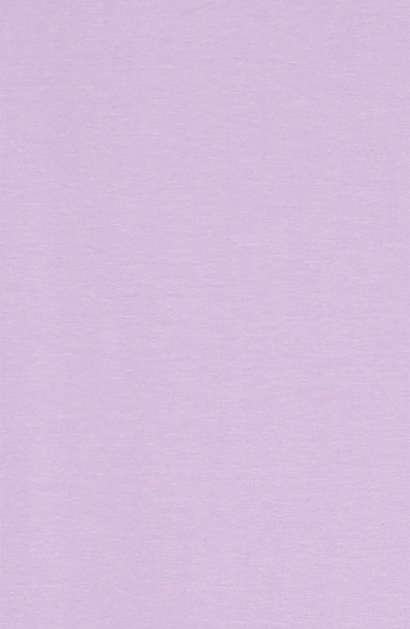 ,                             3-Stripes T-Shirt Dress,                             Alternate thumbnail 3, color,                             PURGLO/ WHITE