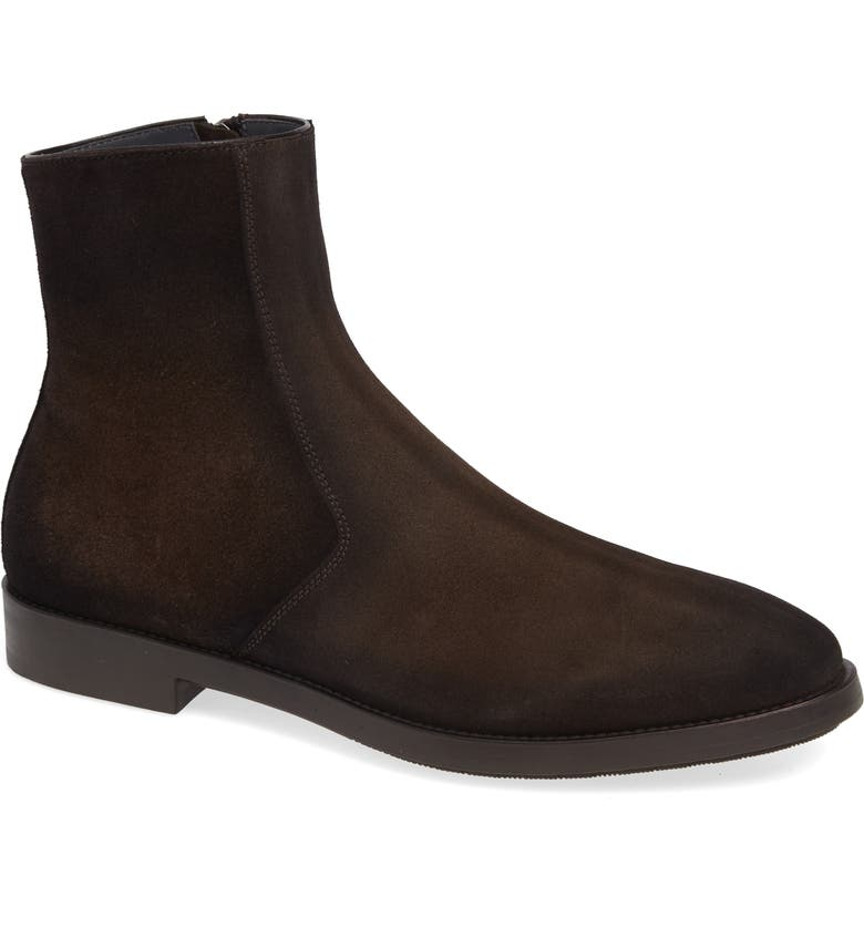 TO BOOT NEW YORK Rosemont Zip Boot, Main, color, BROWN SUEDE/ LEATHER